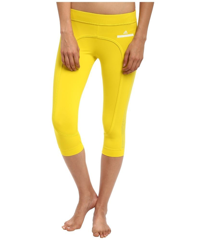 32b541c4403491 Find many great new & used options and get the best deals for new STELLA  McCARTNEY adidas RUN 3/4 TIGHTS sz S gym running yoga pants yellow at the  best ...