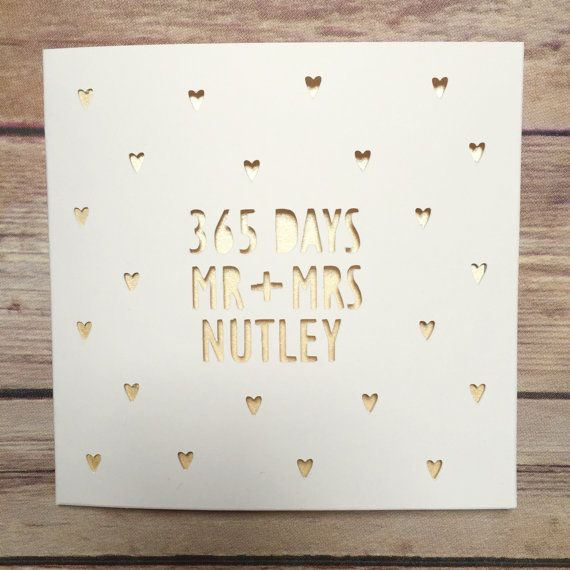 Personalised 365 days, Mr \ Mrs card to celebrate a happy couples - anniversary card template