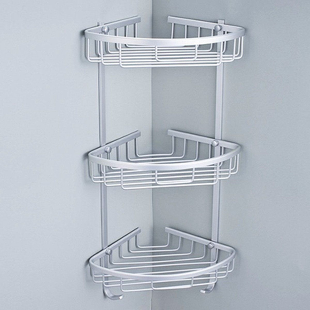 King Do Way Shower Bathroom Corner Shelf Storage Organizer Holder Basket Rack With Towel Hook Stainless Ste Bathroom Corner Rack Shower Storage Bathroom Shower