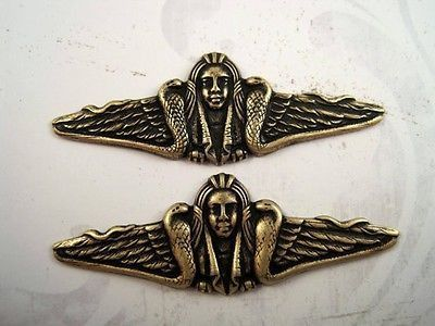 Oxidized Brass Plated Snake Goddess Stampings (2) - BOFF3337 Jewelry Finding