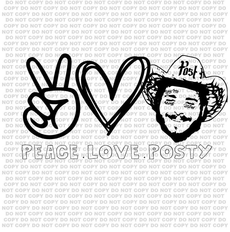 Post Malone Svg Post Malone Shirt Post Malone Sticker Post Etsy In 2020 Adhesive Vinyl Projects Star Spangled Hammered Party Peace And Love