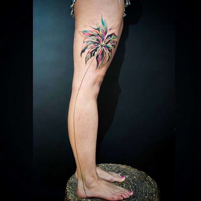 Abstract Palm Tree Tattoo Tree Tattoo Artist Palm Tree Tattoo