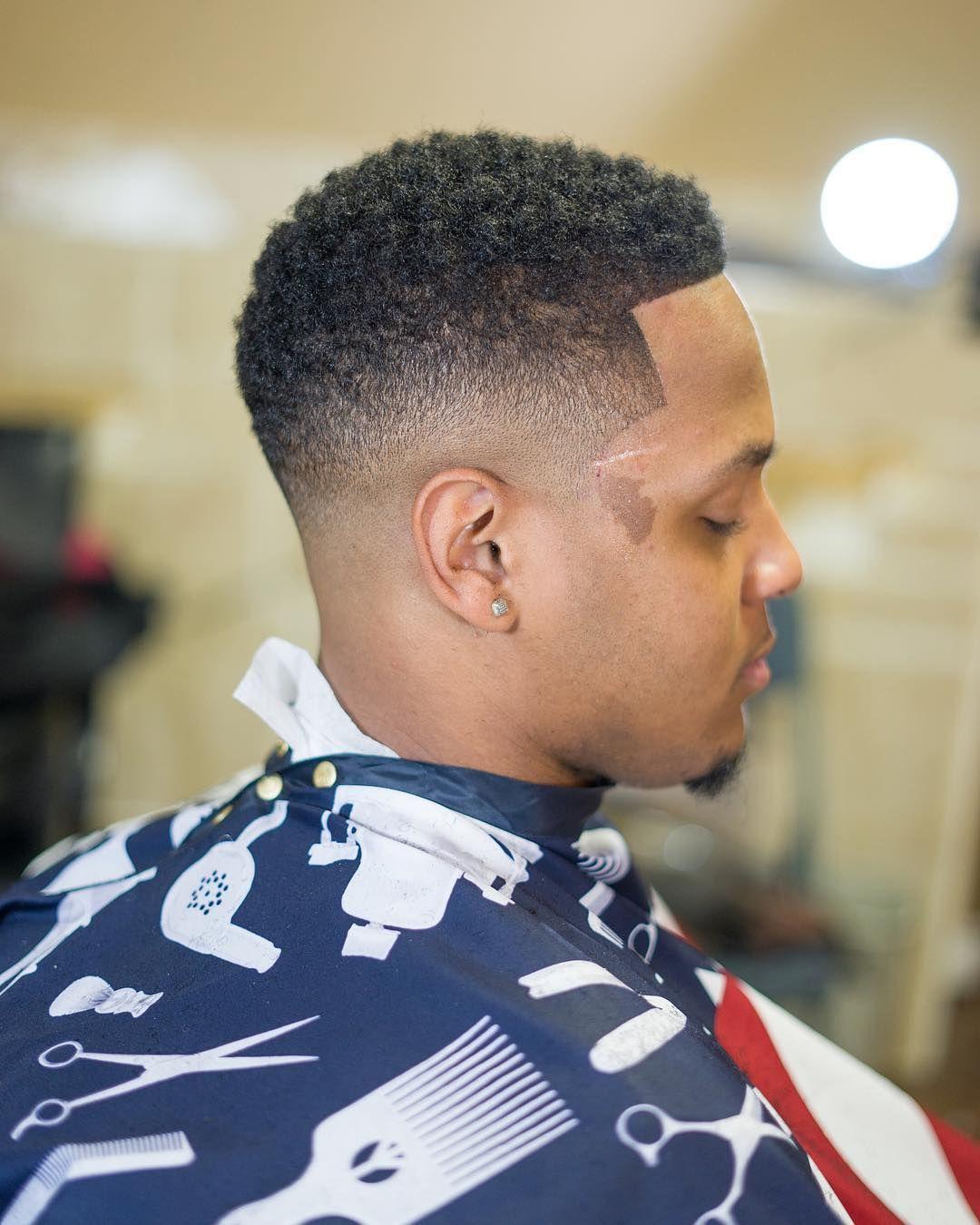 mid fade haircut black men