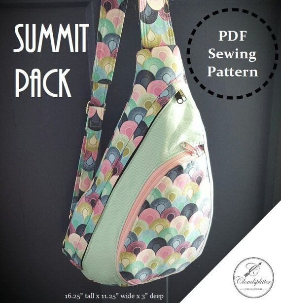 Summit Pack: DIGITAL Sewing Pattern | Patchwork | Pinterest | Nähen ...