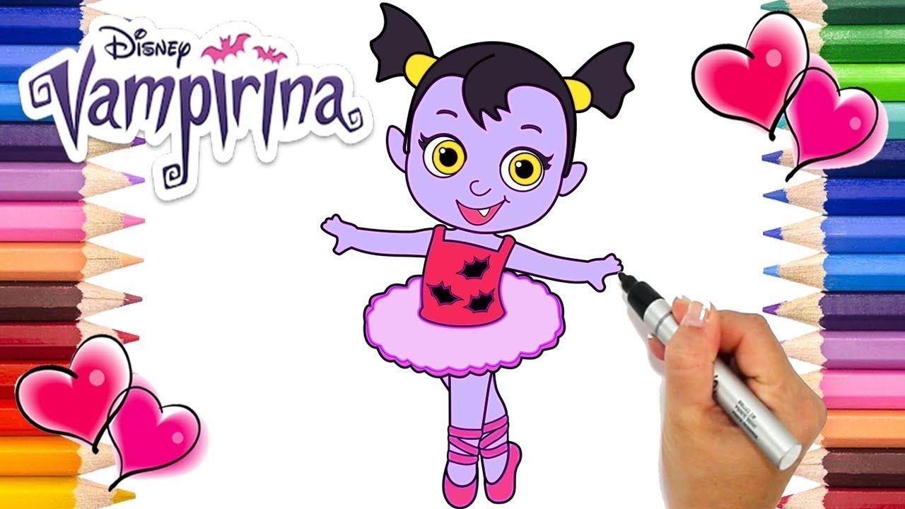 Baby Nosy Ballerina Vampirina Coloring Page Vampirina Babysitter