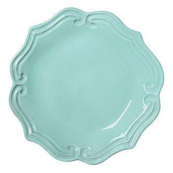 VIETRI: Incanto Aqua Baroque Salad Plate (Set of 4)