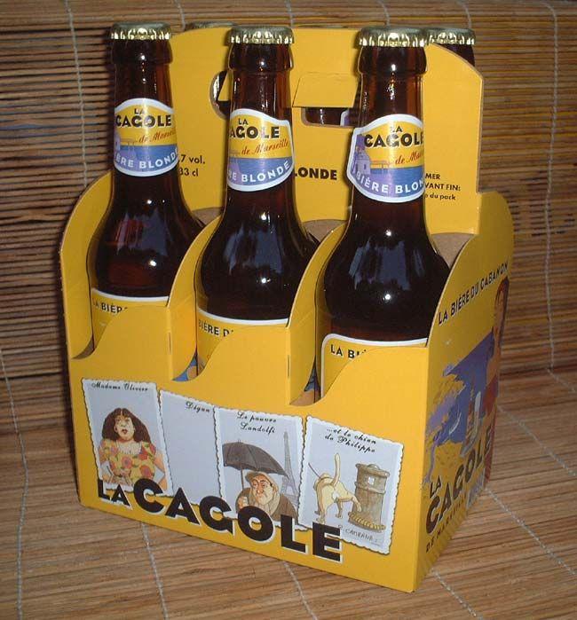 LA CAGOLE  Fonctions   Technique : Packaging en verre pour la bouteille marron qui reste traditionnelle. L'originalité vient du pack qui rappelle un panier comme une référence au quartier du Panier où la bière est brassée. Communication : L'étiquette sur la bouteille varie en fonction du type de bière : blonde, blanche ou ambrée et est orientée sur l'humour du langage marseillais. Le packaging se veut convivial, authentique à la région marseillaise pour plaire aux régionaux comme aux…
