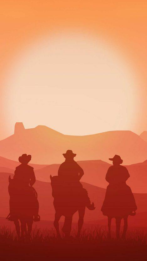 Vintage Cowboys Iphone Wallpaper Free Getintopik Red Dead