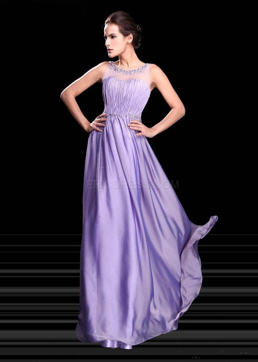 Attractive A-Line Scoop Beading Tulle Evening Dress Elegant Evening Dresses- ericdress.com 10954760