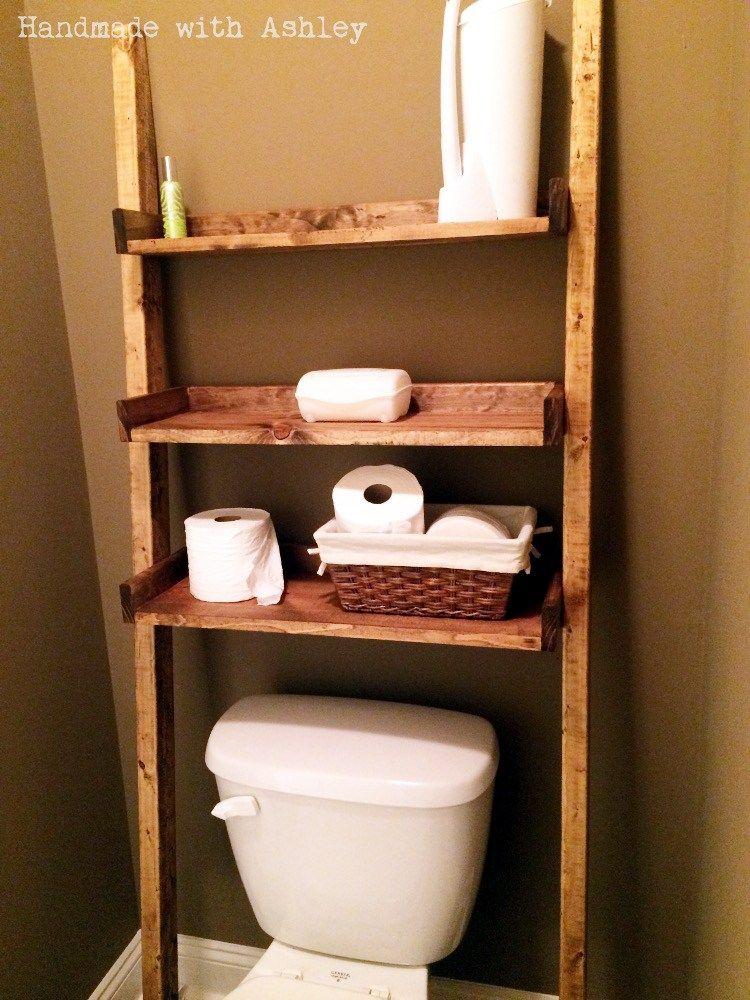 Diy Leaning Ladder Bathroom Shelf Plans By Ana White Bathroom Ladder Shelf Toilet Shelves Bathroom Ladder