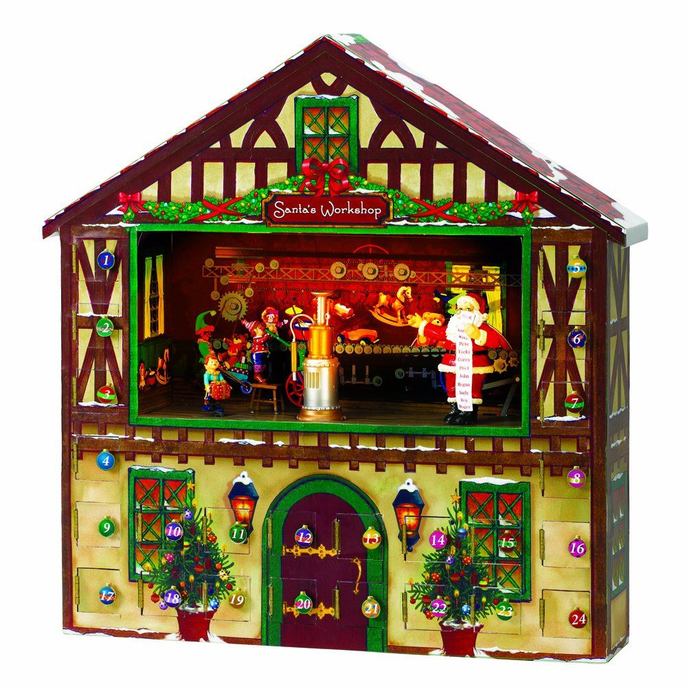 "I love this ""Animated Advent House"" by Mr. Christmas. It"