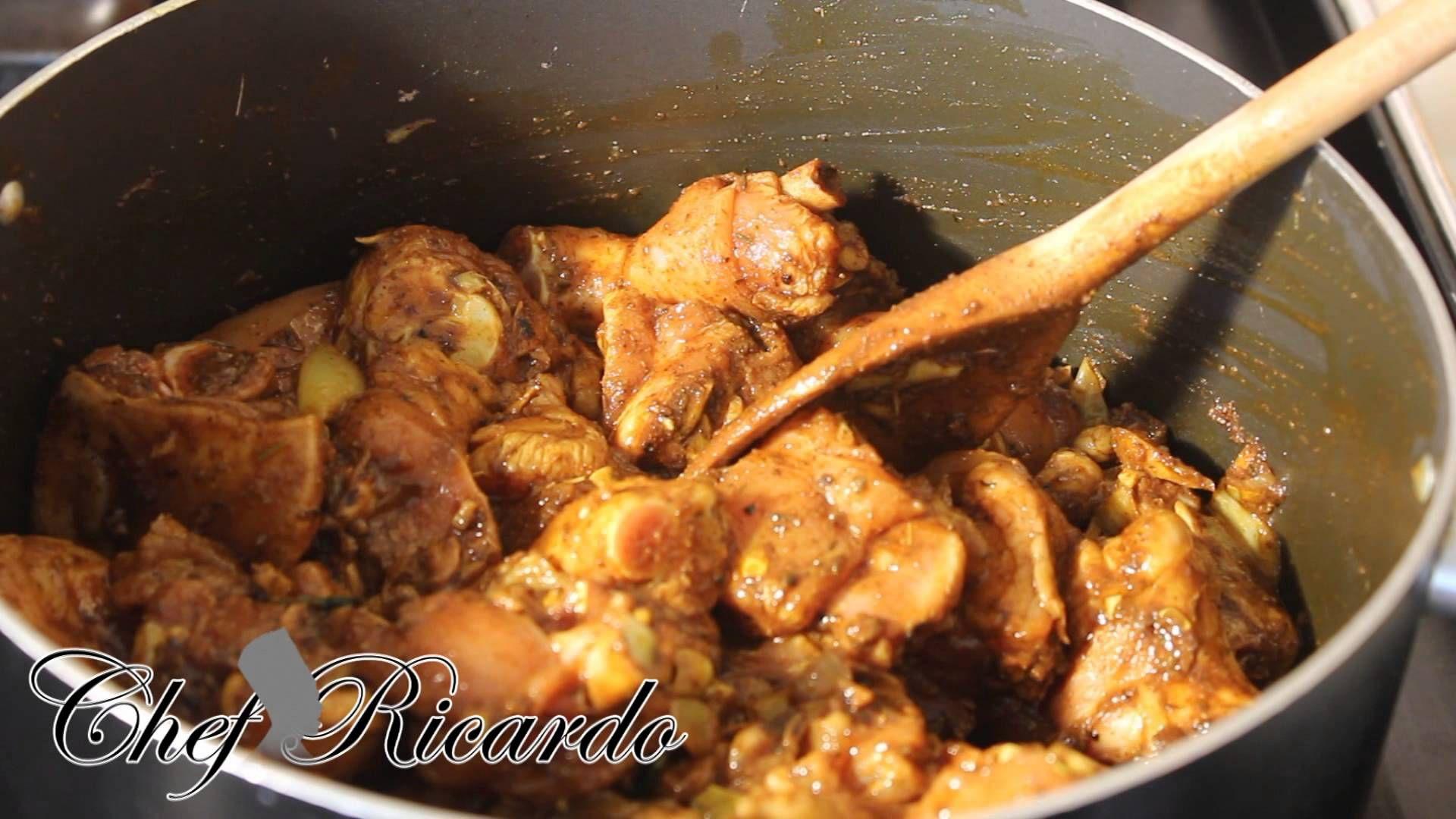Caribbean Twist Curry Chicken Recipe From Chef Ricardo Cooking Curry Chicken Curry Chicken Recipes Chicken Recipes