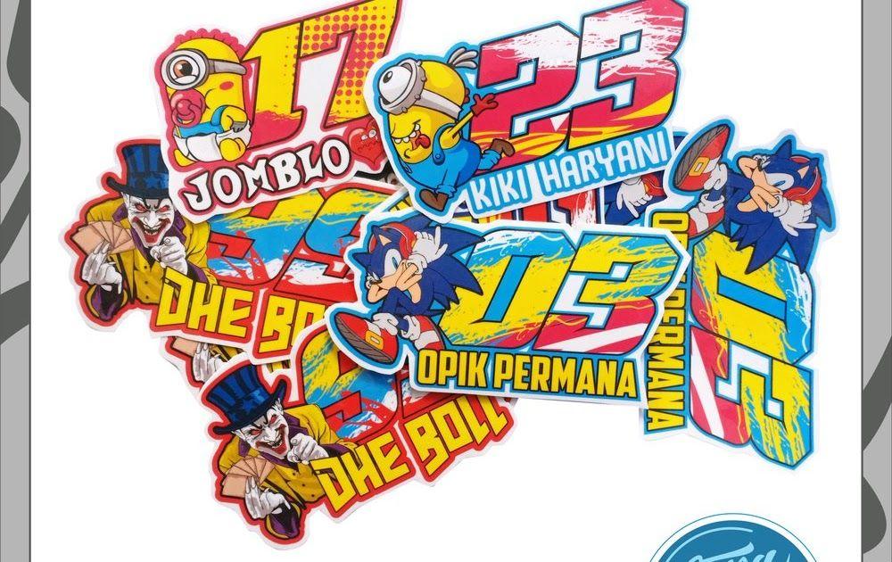 Paling Bagus 29 Gambar Stiker Nomor Keren Stiker Nomor