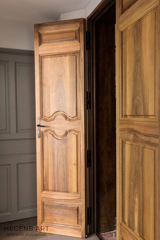 porte d 39 entr e deux vantaux finition luxe avec moulure faites la main pour un appartement. Black Bedroom Furniture Sets. Home Design Ideas