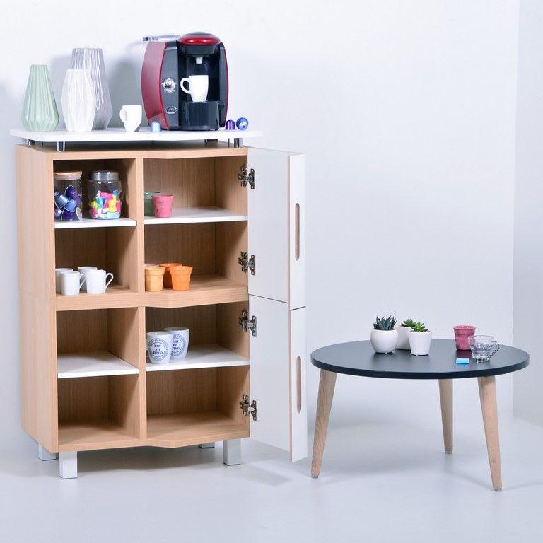 Meuble Espace Cafe Bois Pour Machine A Cafe En 2020 Machine A Cafe Meuble Mobilier De Salon