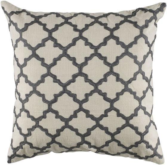 WhiteCharcoal Moroccan Pattern Keyes Decorative Pillow Free Amazing Home Decorators Pillows