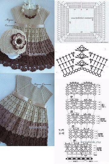b5a5d90df Algunas ideas de vestidos para bebes tejidos a crochet