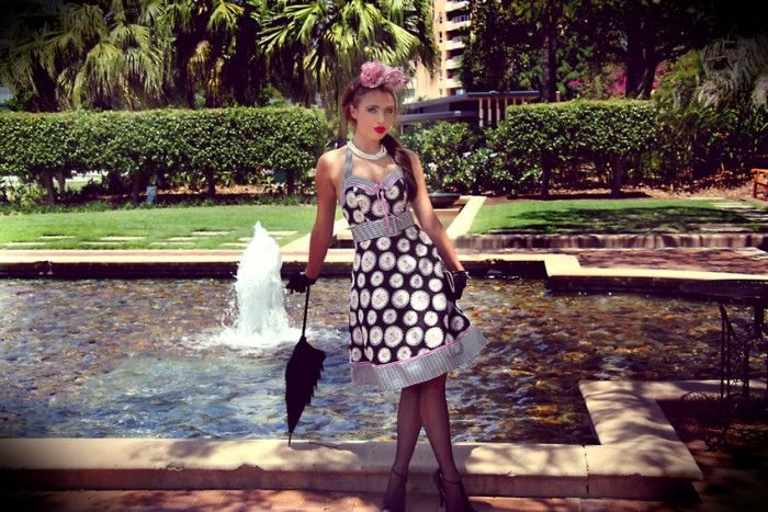 Tea Party Belted Dress - Tea Party - Collections