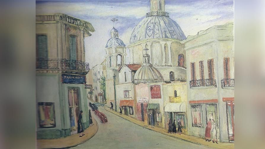 CALLE RIVADAVIA. Por José Aguilera. Obra de 1956.