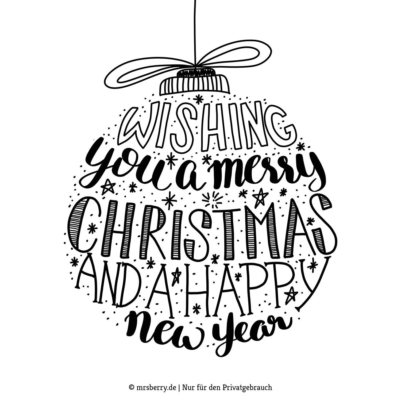 Lettering Weihnachtskugel Als Fensterbild Vorlage Mrsberry Kreativ Studio Fensterbilder Vorlagen Lettering Kalligraphie Weihnachten
