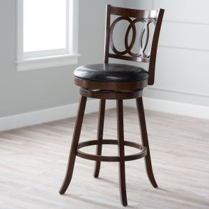Palazzo 34 Inch Extra Tall Bar Stool Black Bar Stools