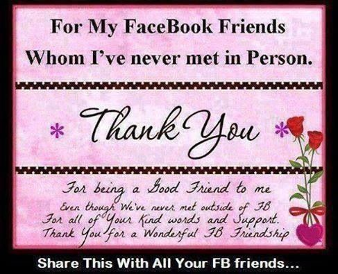 Thank you FB friends | Inspiration