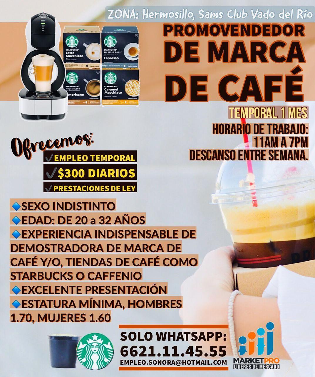 Promotor rhojo market pro café empleo