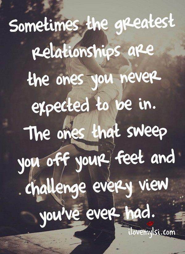 Manchmal sind die größten Beziehungen die, die Sie nie in zu erwarten. Diejenigen, die Sie von Ihren Füßen fegen und jede Herausforderung sehen Sie je hatten.