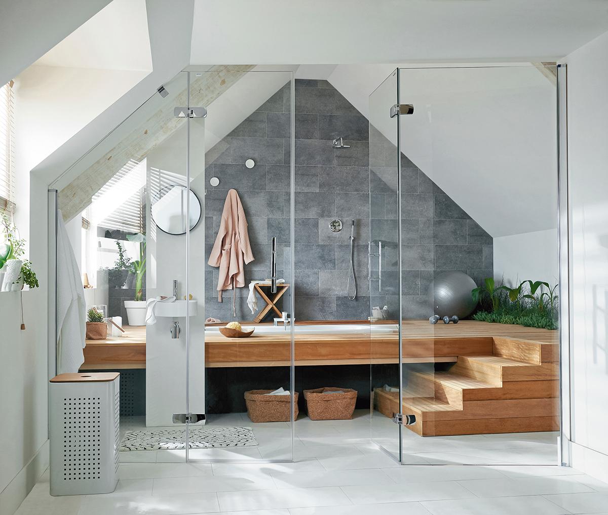 Installer Salle De Bains Combles un espace spa sous les combles. | salle de bains moderne