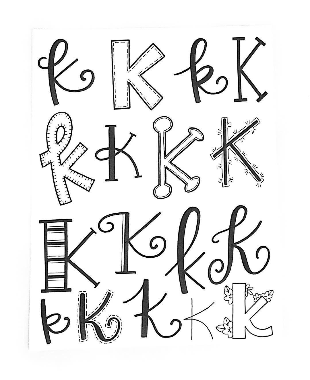 Letter K Font Alphabet