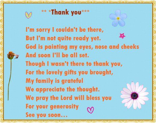 Baby Shower Thank You Poems From Unborn Baby Baby Shower