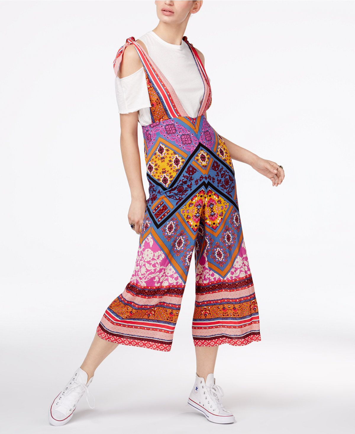 bb6428a18966 Free People Maritzah Printed Jumpsuit Enjoy a fashion-forward look in this  bold jumpsuit from