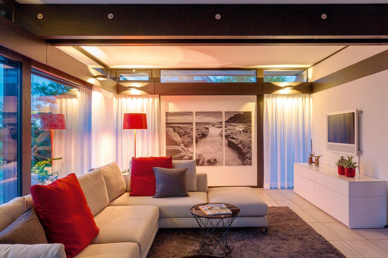 Musterhaus inneneinrichtung wohnzimmer  Musterhaus - HUF HAUS Koblenz | Fertighaus | Pinterest ...