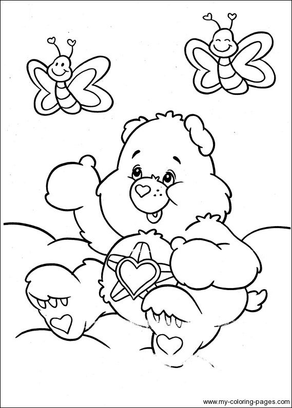 Care Bears Coloring 041 Ann S Coloring Pages Bear Coloring Pages