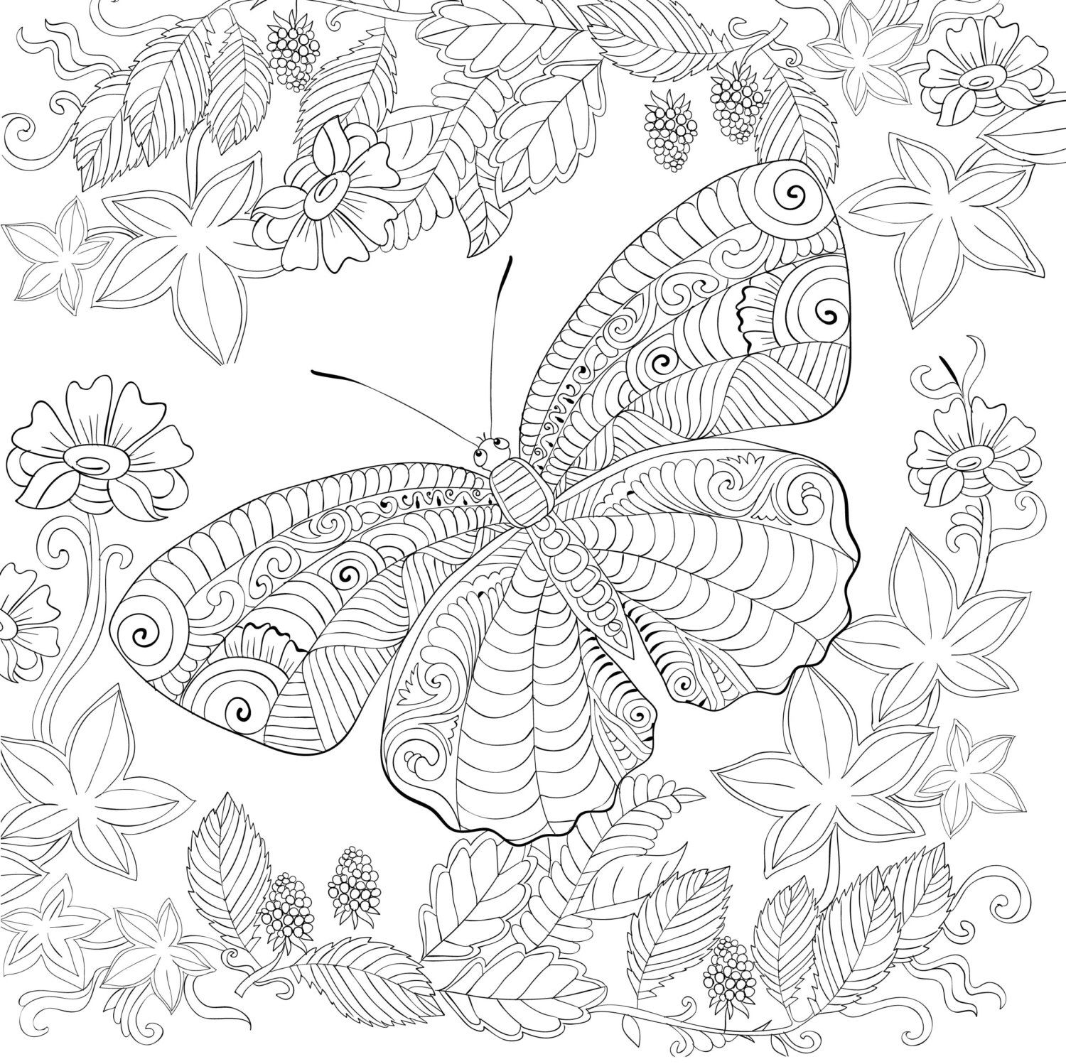 Pin On Insects Colouring Pages [ 1498 x 1500 Pixel ]