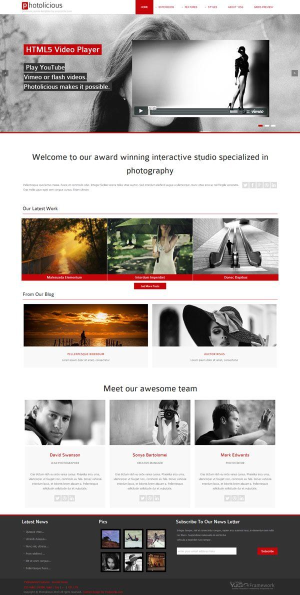 YJ PHOTOLICIOUS V1.0.13 TEMPLATE FOR JOOMLA 2.5 DOWNLOAD
