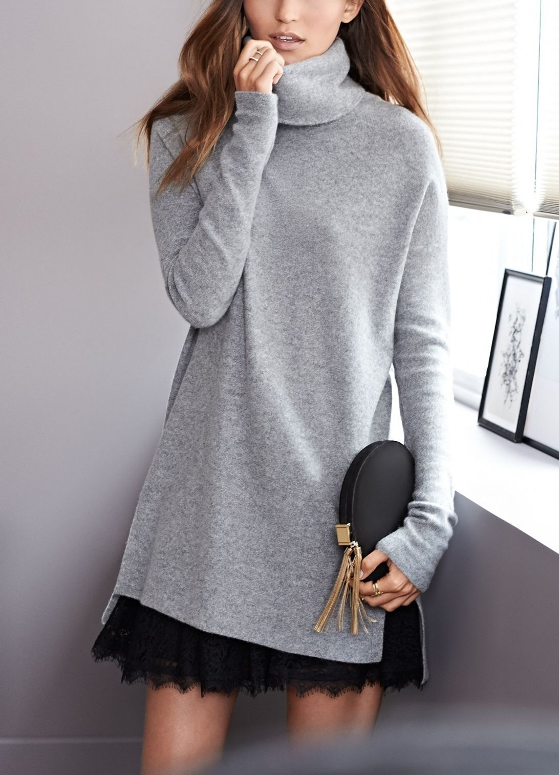 Coveting super soft wool, and cashmere turtleneck sweaters this ...