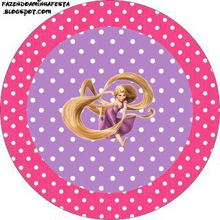 Rapuzel Disney - Enrolados - Kit Completo com molduras para convites, rótulos para guloseimas, lembrancinhas e imagens!