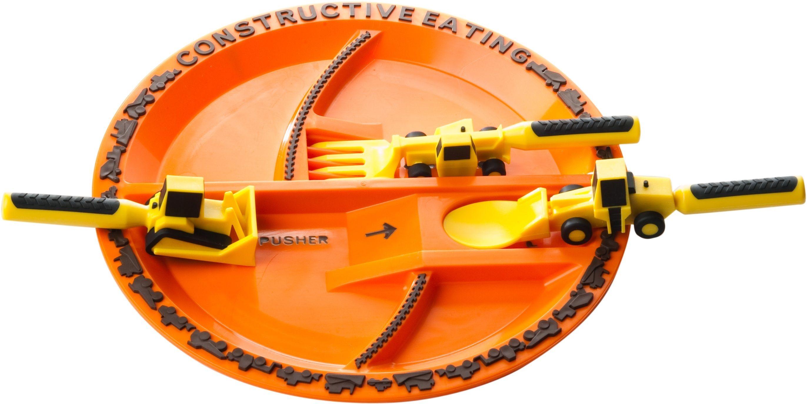 Constructive Eating Set 3 Construction Utensils with Construction Plate  sc 1 st  Pinterest & constructionutensils #construction #digger #dozer #excavator ...