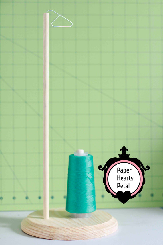 Wood Sewing Thread Spool Holder for Any Sewing by PaperHeartsPetal, $10.00