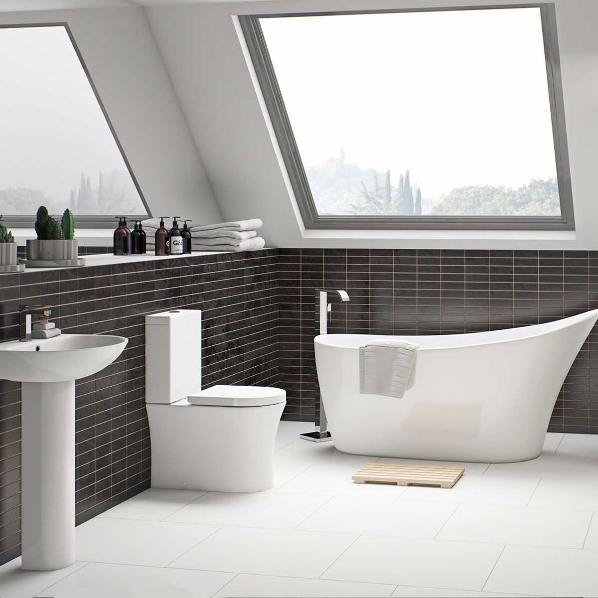 Hardys Fliesen mode hardy rimless bathroom suite with freestanding bath