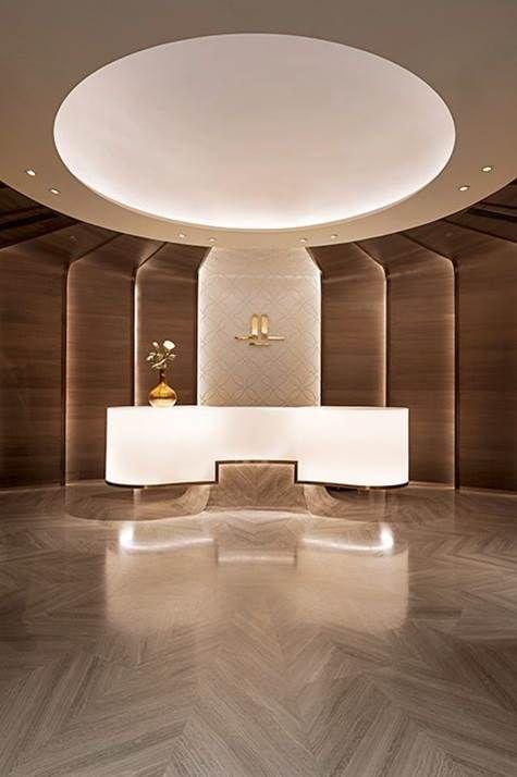 Circular Ceiling Cove Lighting Padra Hotel Lobby
