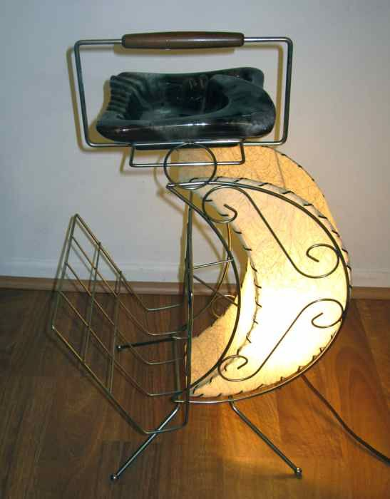 Vintage Retro Moon Lighted Magazine Rack Then Again