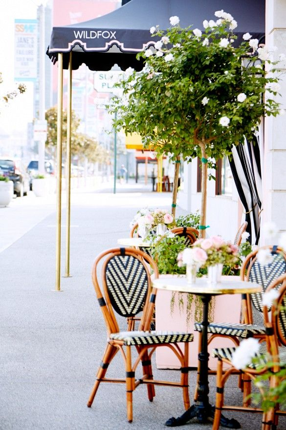 Exclusive: Take A Tour Of Wildfoxu0027s Dreamy Flagship Store. French Bistro  DecorFrench Bistro ChairsBistro TablesChevron ChairsOutdoor ...