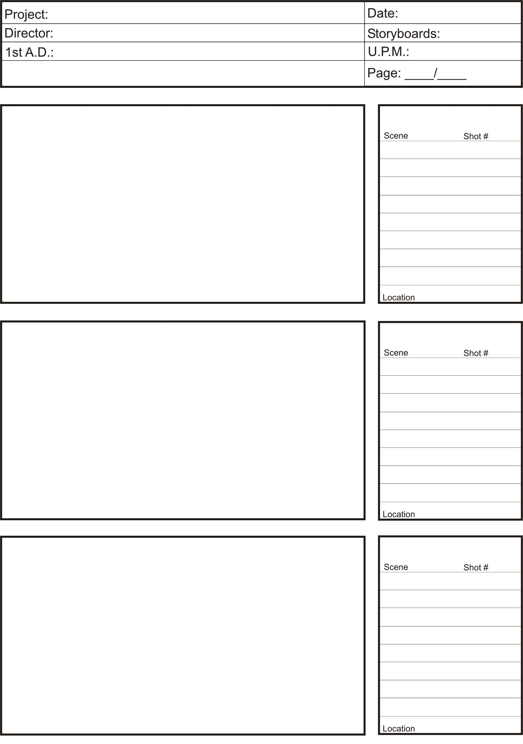 Animation Storyboard Template   Google Search