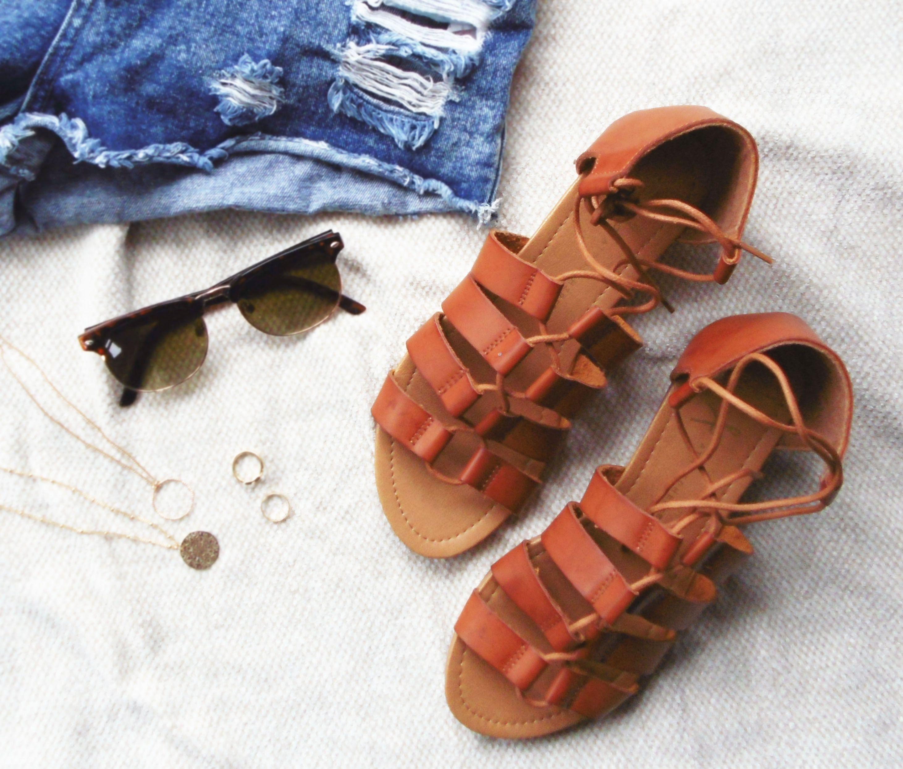 Black sandals primark - Chloe Vibes Primark Ss15 Tan Lace Up Gladiator Sandals Ss15 Sandals