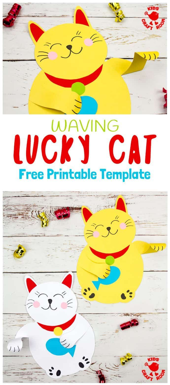 Waving Chinese Lucky Cat Craft - Kids Craft Room