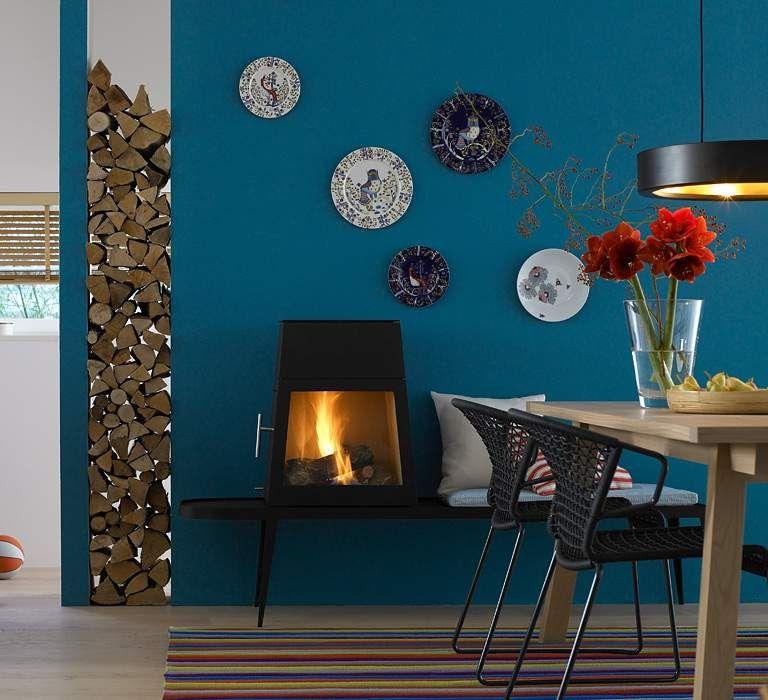 Kamine und Kaminöfen - SCHÖNER WOHNEN Wohnzimmer Pinterest - wohnzimmer schwarz weis orange