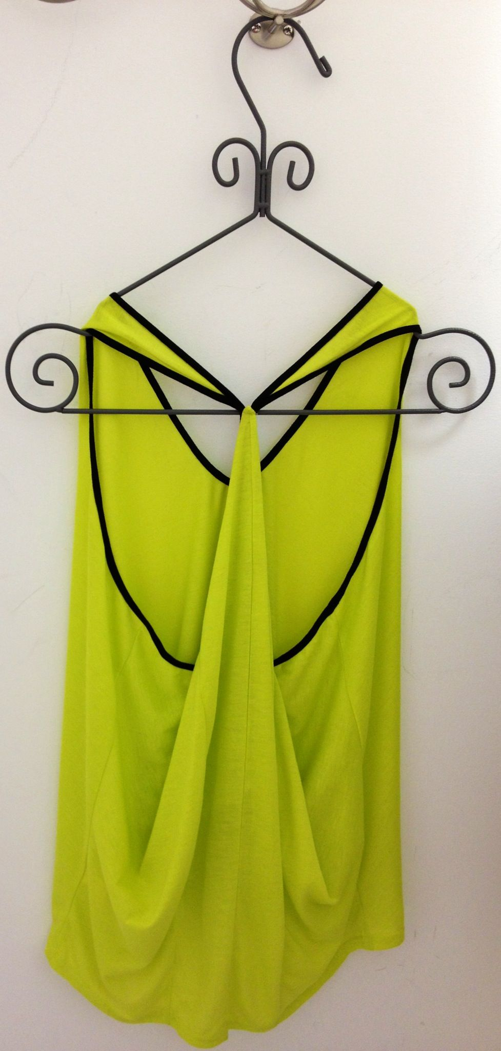 Summer Neon Green Top Back.