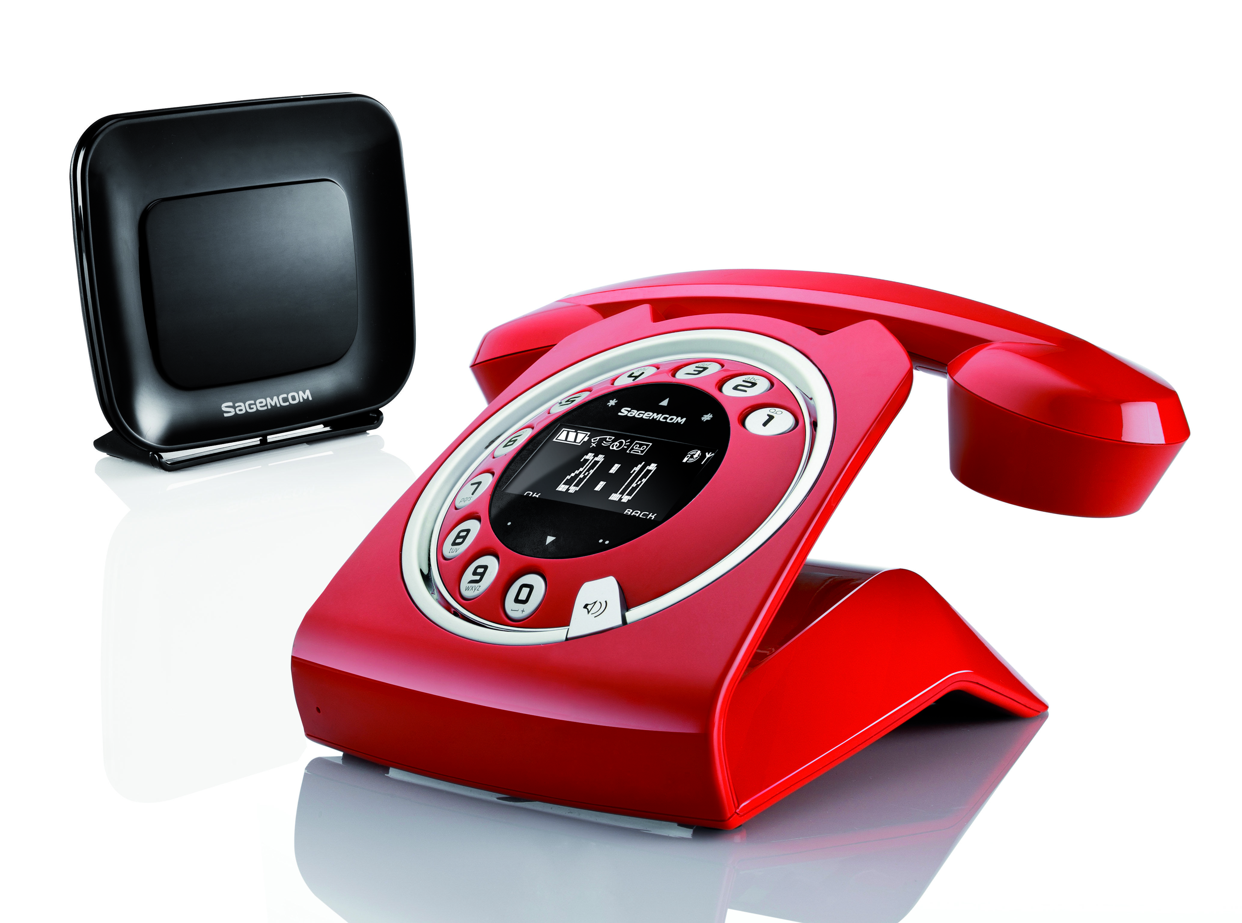 Cordless Phone Sagemcom Sixty Everywhere With Rl 313 Red Color 34